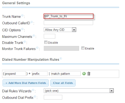 Connecting two IP PBX box using SIP Trunk
