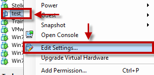 How to change default snapshot location in VMware ESXi 5