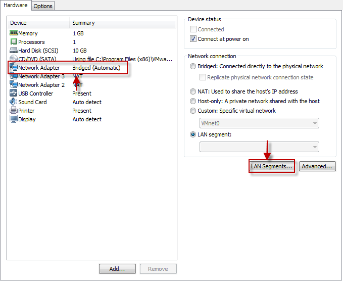 How to configure Private Network in VMware Workstation