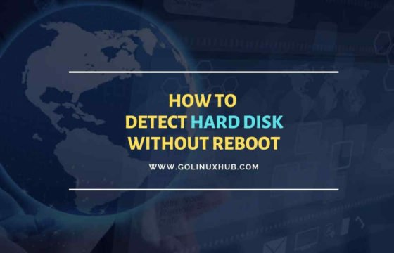 How to detect new hard disk attached without rebooting in Linux